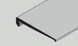 Sturzdichtung 60 mm breit  Hörmann
